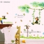 """สติ๊กเกอร์ติดผนัง สำหรับห้องเด็ก """"Cute Green Tree and Swing ชิงช้า""""ความสูง 95 cm ความยาว 100 cm thumbnail 1"""