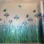 """สติ๊กเกอร์ติดกระจกแบบมีกาวในตัว """"Violet Flower Fence"""" หน้ากว้าง 90 cm ตัดแบ่งขายเมตรละ 189 บาท (ขั้นต่ำ 3m) thumbnail 5"""