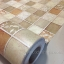 "Wallpaper Sticker วอลล์เปเปอร์แบบมีกาวในตัว ""Brown Tiles"" หน้ากว้าง 1.22m ตัดขายตามความยาว เมตรละ 250 บาท thumbnail 1"