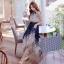 ชุดเดรสยาว โบฮีเมี่ยน สายคล้องคอ สีน้ำเงิน thumbnail 3