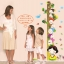 """สติ๊กเกอร์ติดผนังพีวีซีเนื้อใส ที่วัดส่วนสูง """"Height Scale with Children"""" สเกลเริ่มต้น 50 cm ถึง 180 cm thumbnail 1"""
