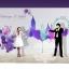 backdropงานแต่งงาน - inkjet backdrop wedding สีน้ำโทนสีม่วง thumbnail 1