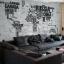 """สติ๊กเกอร์ติดผนัง ตกแต่งบ้าน Wall Sticker ขนาดใหญ่ """"Map and Quote"""" ความสูง 116 cm ความกว้าง 190 cm thumbnail 2"""