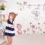 """สติ๊กเกอร์ติดผนัง สำหรับห้องเด็ก """"กระต่าย cute rabbits"""" ความสูง 130 cm กว้าง 100 cm thumbnail 1"""