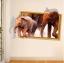 """สติ๊กเกอร์ติดผนังตกแต่งบ้าน 3D """"ช้าง Elephants"""" ความกว้าง 87 cm สูง 57 cm thumbnail 5"""