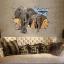 """สติ๊กเกอร์ติดผนัง 3D """"Huge Elephant"""" ความสูง 66 cm กว้าง 94 cm thumbnail 2"""