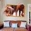 """สติ๊กเกอร์ติดผนังตกแต่งบ้าน 3D """"ช้าง Elephants"""" ความกว้าง 87 cm สูง 57 cm thumbnail 3"""
