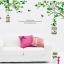 """Wall sticker ตกแต่งผนัง หมวดต้นไม้ """"ต้นไม้เขียวกับกรงนก"""" ความสูง 70 cm ความกว้าง 140 cm thumbnail 1"""