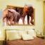 """สติ๊กเกอร์ติดผนังตกแต่งบ้าน 3D """"ช้าง Elephants"""" ความกว้าง 87 cm สูง 57 cm thumbnail 4"""
