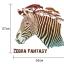 """สติ๊กเกอร์ติดผนังตกแต่งบ้าน """"ม้าลาย Zebra Fantacy"""" ความสูง 57 m ยาว 62 cm thumbnail 3"""