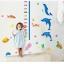 """สติ๊กเกอร์ติดผนังตกแต่งห้องเด็ก ที่วัดส่วนสูง """"Cute dolphin and Growth Chart"""" สเกลเริ่มต้น 60cm ถึง 180 cm thumbnail 3"""