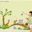 """สติ๊กเกอร์ติดผนัง สำหรับห้องเด็ก """"Cute Bear""""ความสูง 90 cm ความยาว 140 cm thumbnail 1"""