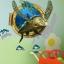 """สติ๊กเกอร์ติดผนัง 3D """"เต่าทะเล Sea Turtle"""" ความสูง 94cm กว้าง 83cm thumbnail 2"""