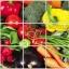 """สติ๊กเกอร์ติดครัว กันน้ำมันกระเด็น อลูมิเนียม """"Best Vegetable"""" ขนาด 45cm x 75cm thumbnail 1"""