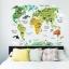 """สติ๊กเกอร์ติดผนังตกแต่งบ้าน """"แผนที่ Animal World Map"""" ความสูง 73 cm กว้าง 95 cm thumbnail 3"""
