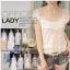 เสื้อแฟชั่นเกาหลีคอวีเสื้อแขนสั้นสีขาวเสื้อลูกไม้ thumbnail 7