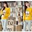 เสื้อกันหนาวลายนกฮู๊ก คอกลม เขียว เหลือง เทา thumbnail 11