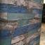"Wallpaper Sticker วอลล์เปเปอร์แบบมีกาวในตัว ""ลายไม้เก่าสีฟ้า สไตล์วินเทจ"" หน้ากว้าง 1.22m ตัดขายตามความยาว เมตรละ 250 บาท thumbnail 3"