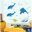 """สติ๊กเกอร์เรืองแสงตกแต่งห้องเด็ก """"Dolphins"""" ความสูง 78 cm กว้าง 95 cm thumbnail 2"""