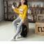 เสื้อกันหนาวลายนกฮู๊ก คอกลม เขียว เหลือง เทา thumbnail 5