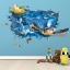 """สติ๊กเกอร์ติดผนัง 3D """"เต่าทะเล"""" ความสูง 70 cm กว้าง 110 cm thumbnail 1"""