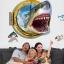 """สติ๊กเกอร์ติดผนัง 3D """"Shark"""" ความสูง 67 cm กว้าง 87 cm thumbnail 5"""