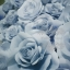 ดอกไม้กระดาษโทนสีฟ้าคราม - flower paper backdrop thumbnail 1