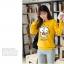 เสื้อกันหนาวลายนกฮู๊ก คอกลม เขียว เหลือง เทา thumbnail 9