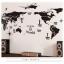"""สติ๊กเกอร์ติดผนังตกแต่งห้อง """"แผนที่โลก Around the World สีดำ"""" ความสูง 70 cm กว้าง 130 cm thumbnail 3"""