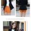 เวอร์ชั่นเกาหลี เสื้อแจ็คเก็ต ซิป แขนยาว สีดำ เสื้อคลุม thumbnail 2