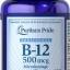 บำรุงโลหิต และระบบประสาท Puritan's Pride Vitamin B-12 500 mcg Sublingual 500 mcg / 100 เม็ด thumbnail 1