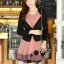 Slim เกาหลีเดรส แขนกุด+เสื้อคลุมแขนยาว หรูหรา สองชิ้น ชุดของผู้หญิงที่เบงกาซี thumbnail 14