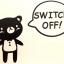 """สติ๊กเกอร์ติดปลั๊กไฟ """"Cute Bear II""""ขนาดซองบรรจุ 15x12 cm thumbnail 1"""
