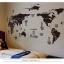 """สติ๊กเกอร์ติดผนังตกแต่งห้อง """"แผนที่โลก Around the World สีดำ"""" ความสูง 70 cm กว้าง 130 cm thumbnail 2"""