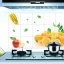 """สติ๊กเกอร์ติดครัว กันน้ำมันกระเด็น อลูมิเนียม """"Orange"""" ขนาด 45cm x 75cm thumbnail 1"""