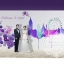 backdropงานแต่งงาน - inkjet backdrop wedding สีน้ำโทนสีม่วง thumbnail 2