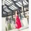 Jingjing เดรสลูกไม้ สายเดี่ยว กระโปรงยาว สีแดง thumbnail 5