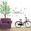 "Big Size สติ๊กเกอร์ติดผนังตกแต่งบ้าน ""Big Green Tree and Bicycle"" ขนาดสูง 180 cm กว้าง 200 cm thumbnail 1"