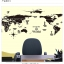"""สติ๊กเกอร์ติดผนังตกแต่งห้อง """"แผนที่โลก Around the World สีดำ"""" ความสูง 70 cm กว้าง 130 cm thumbnail 4"""