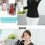 เสื้อลูกไม้เกาหลีคอ Vแขนยาว สีขาว ดำ thumbnail 10