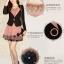 Slim เกาหลีเดรส แขนกุด+เสื้อคลุมแขนยาว หรูหรา สองชิ้น ชุดของผู้หญิงที่เบงกาซี thumbnail 6