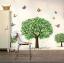 """วอลล์สติ๊กเกอร์ตกแต่งผนัง หมวดต้นไม้ """"Green Tree and Butterfly"""" thumbnail 2"""