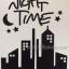 """สติ๊กเกอร์ติดปลั๊กไฟ """"Night Time สีดำ"""" ขนาดซองบรรจุ 15 x 12 cm thumbnail 2"""