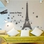 """สติ๊กเกอร์ตกแต่งผนังเมืองท่องเที่ยว """"Love Paris"""" ความสูง 130 cm กว้าง 190 cm thumbnail 1"""