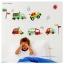"""สติ๊กเกอร์ติดผนัง ห้องเด็ก """"Cute Traffic รถยนต์"""" ความสูง 50 cm กว้าง 140 cm thumbnail 2"""