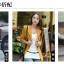 เวอร์ชั่นเกาหลี เสื้อแจ็คเก็ต ซิป แขนยาว สีดำ เสื้อคลุม thumbnail 3