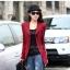 เวอร์ชั่นเกาหลี เสื้อแจ็คเก็ต ซิป แขนยาว สีแดง เสื้อคลุม thumbnail 1