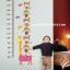 """สติ๊กเกอร์ติดผนังพีวีซีเนื้อใส ที่วัดส่วนสูง """"ที่วัดส่วนสูงตุ๊กตาไม้"""" สเกลเริ่มต้น 60 cm ถึง 180 cm thumbnail 1"""