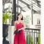 Jingjing เดรสลูกไม้ สายเดี่ยว กระโปรงยาว สีแดง thumbnail 1