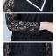 เสื้อลูกไม้ สีขาว สีดำแขนยาว คอเต่า thumbnail 5